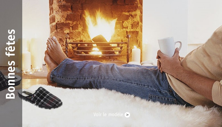 chaussons homme hiver