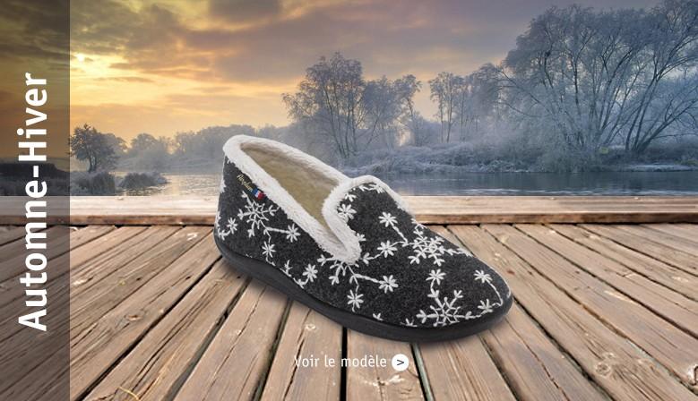 chausson femme hiver confort